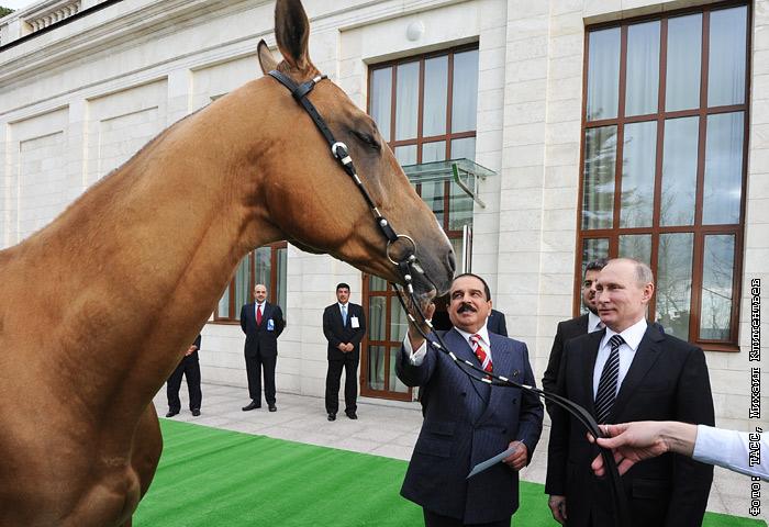 путин подарил королю бахрейна фото