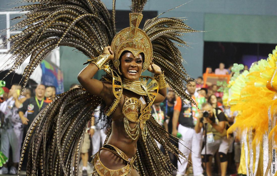 Бразильский карнавал открытка
