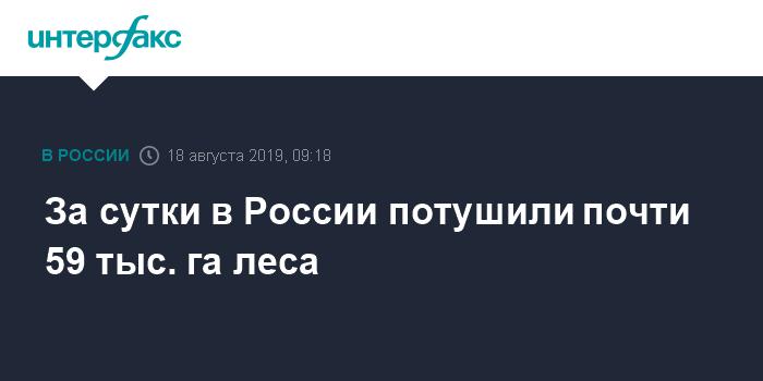 За сутки в России потушены более 200 лесных пожаров