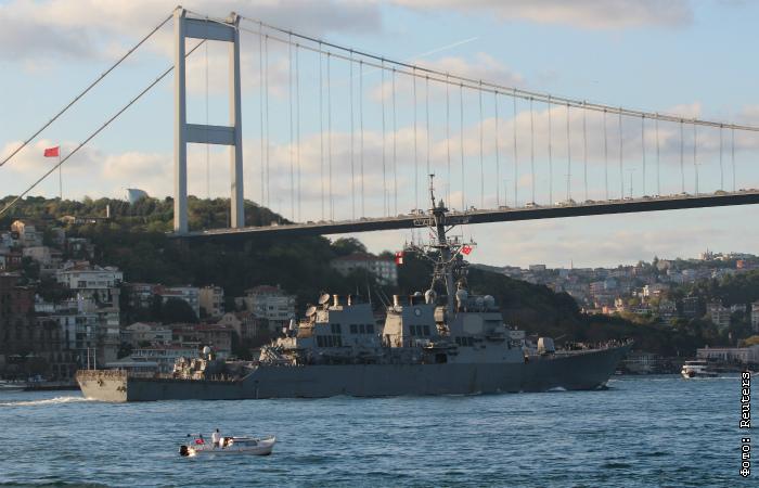 В Черное море зашли несколько боевых кораблей НАТО