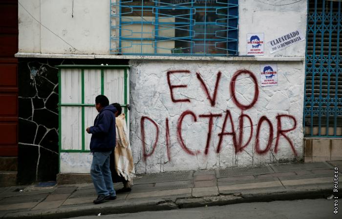 Друг Путина, президент Боливии Эво Моралес ушел в отставку в результате массовых демонстраций протеста