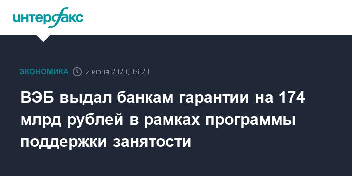 ВЭБ.РФ предоставит поручительства 13 региональным банкам для поддержки занятости