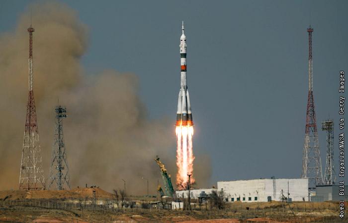 """760361 Ракета """"Союз-2.1а"""" с новым экипажем МКС стартовала с Байконура"""