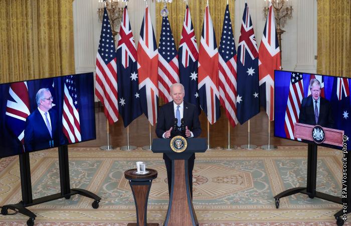 791618 Великобритания, США и Австралия создали оборонный альянс AUKUS