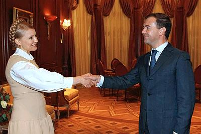 Встреча президента России с премьер-министром Украины