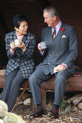 Принц Чарльз и принцесса Такамадо встретились в Японии