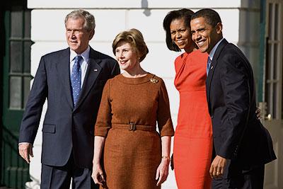 Встреча действующего и избранного президентов США
