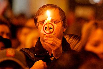 В Праге подрались сторонники и противники ПРО