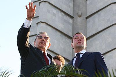 Дмитрий Медведев и Рауль Кастро встретились на Кубе