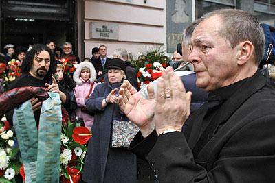 Церемония прощания с актером и музыкантом Борисом Хмельницким