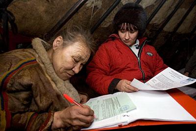 Досрочные выборы президента РФ проходят в отдаленных регионах России