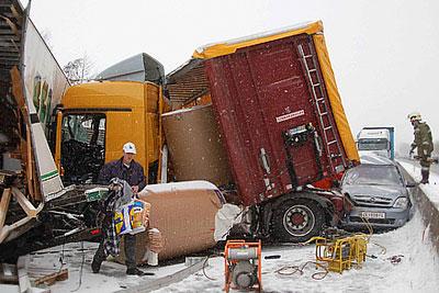 В Австрии столкнулись около 100 машин