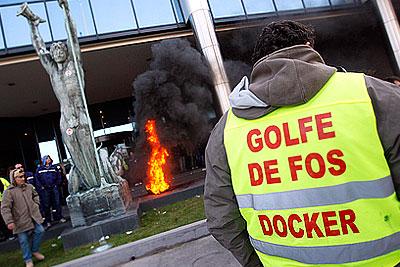 Забастовка портовых рабочих во Франции