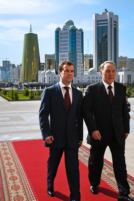 Визит президента России в Казахстан