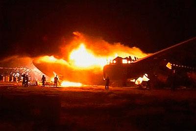 В Судане загорелся пассажирский самолет