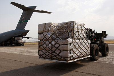 Гуманитарная помощь в Грузию доставляется американскими самолетами