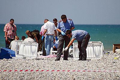 Взрыв на сочинском пляже