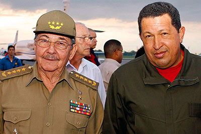 Уго Чавес посетил Кубу