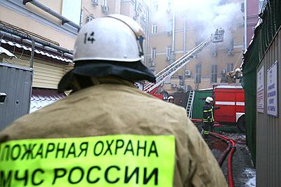 Пожар в здании РЖД