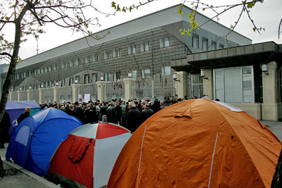 В Тбилиси продолжаются круглосуточные акции протеста