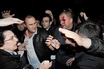 Разгон митинга оппозиции в Тбилиси