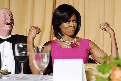 Мишель Обама демонстрирует мускулы