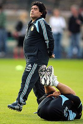 Сборная Аргентины провела тренировку в Москве