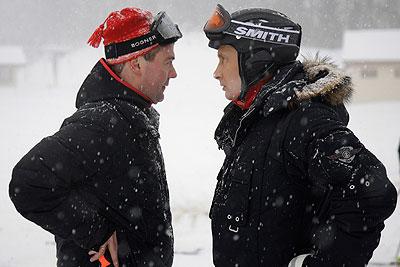 """Медведев и Путин покатались в """"Красной Поляне"""" на лыжах и снегоходах"""