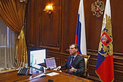 Видеоконференция президента РФ