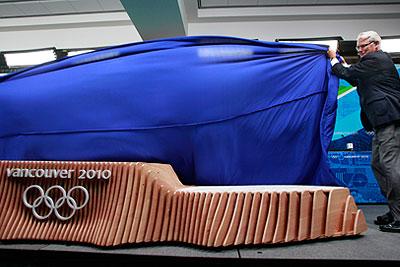 Презентация подиума для вручения олимпийских наград