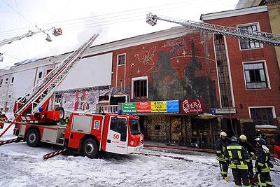 """Пожар в московском клубе """"Опера"""""""