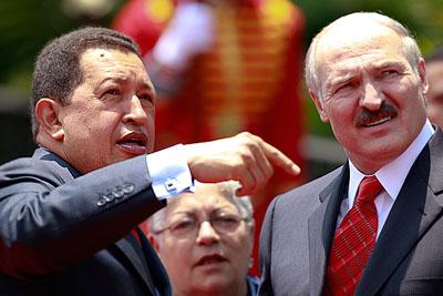 Лукашенко в гостях у Чавеса
