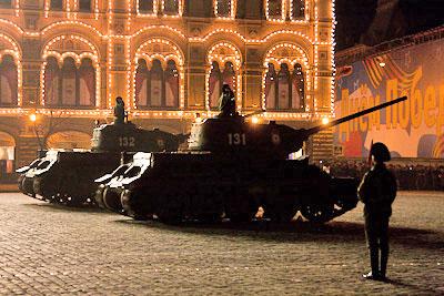 Завершилась первая ночная репетиция парада Победы на Красной площади