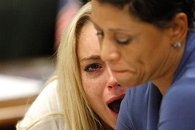 Актрису Линдси Лохан приговорили к трем месяцам заключения