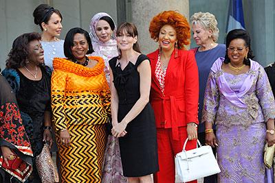 Карла Бруни-Саркози встретилась с первыми леди Африки