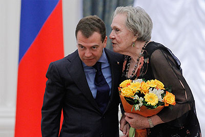 Дмитрий Медведев  вручил в Кремле государственные награды