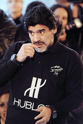 Диего Марадона принял участие в благотворительной акции