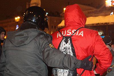 Милиция задержала около 80 человек в центре Санкт-Петербурга