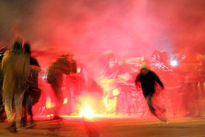 Столкновения на площади Киевского вокзала