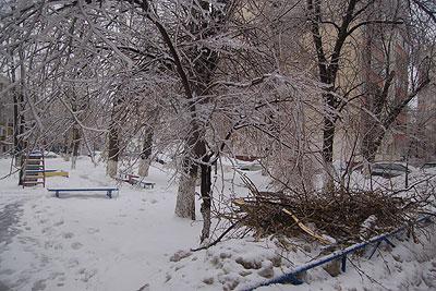 "Москва после ""ледяного дождя"""