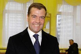 Рейтинги России в руках Медведева