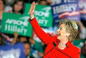 Клинтон прервала беспроигрышную серию Обамы