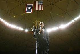 Обама ликует, а Буш беззаботно поет