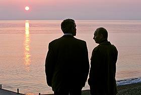 Путин и Буш: под знаком слома стереотипов. Фото