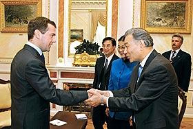 Символический визит президента Медведева