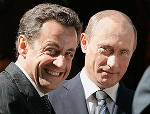Взаимные симпатии Путина и Саркози