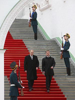 Третий и самый молодой президент России вступил в должность. Фото церемонии