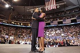 Обама празднует победу