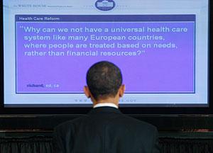 Обама онлайн