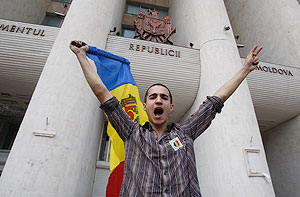 Кишинев во власти беспорядков. Фото